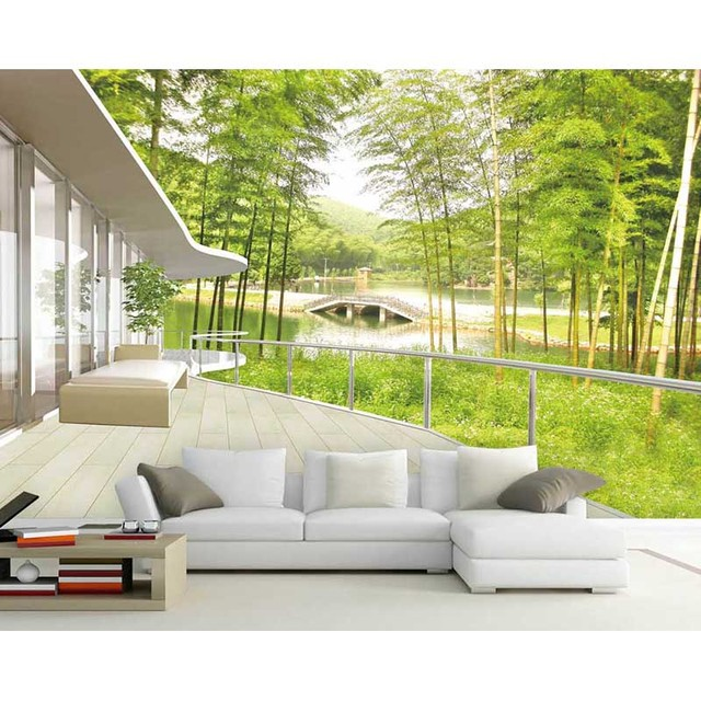 Fashion Hd Waterproof Mural Home Decor Background Wall 3d Landscape
