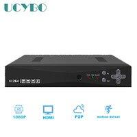 1080N CCTV AHD DVR AHD-M vigilância 4CH 1080 P NVR Híbrido 3 em 1 rede Gravador de Vídeo digital Para AHD Câmera de segurança ip