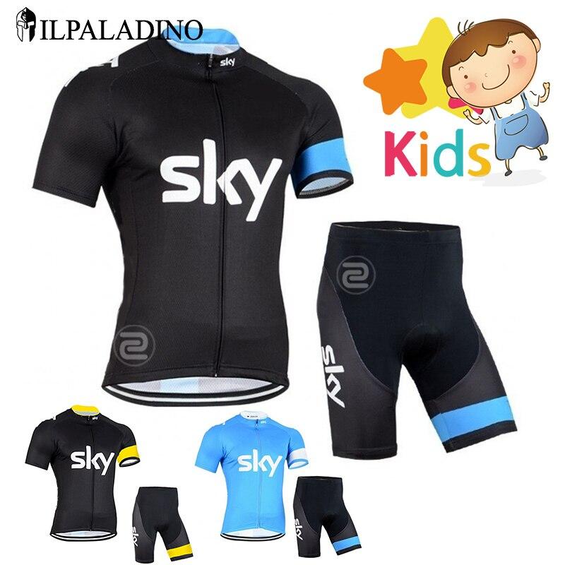 Prix pour Garçons Pro Cycling Jersey Set Ropa Ciclismo Vélo Kit pour Enfants Respirant À Séchage Rapide Vêtements De Vélo Enfants