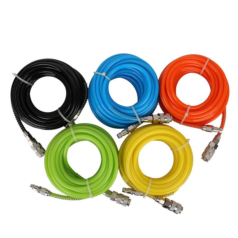 Pneumatic PU Tube Air Compressor Hose Pipe  8*5.5mm Polyurethane Flexible Tubes Quick Connector Fitting 10M 15M 20 Meters 5pcs hvff 08 pneumatic valve control hvff 8mm tube pipe hose quick connector hand valves plastic pneumatic hose air fitting