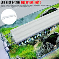 20-70CM Extensible Waterproof Clip-on Lamp Fish Tank Super Slim LED Aquarium Light Aquatic Plant Lighting