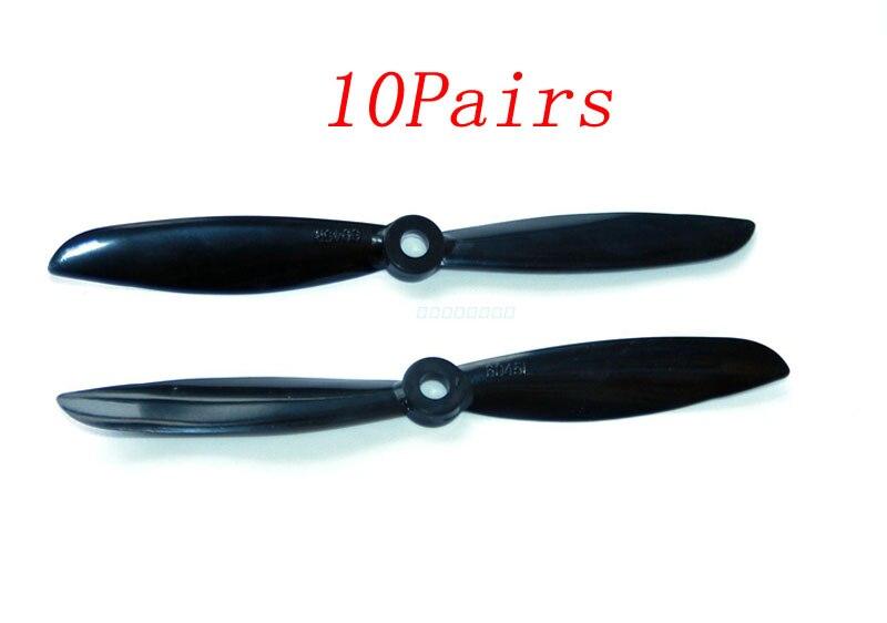 10 Pairs 6045 Propeller Große Loch Rechts/links Positive/reverse Prop Schwarz Paddle Diy Ersatzteile Für Rc Micro Drone Flugzeug