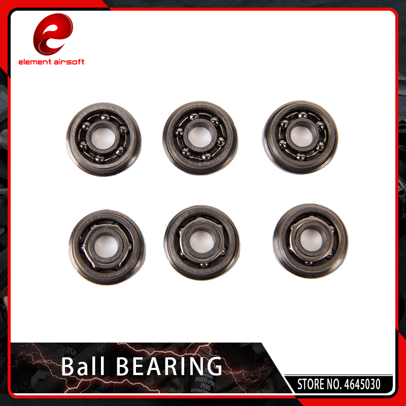 Element 6PCS/SET 7MM 8MM 9MM Stainless Steel High Precision Ball Bearing For Airsoft AEG Gearbox Hunting Accessories
