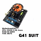 G41 Desktop PC Main Board LGA771 Quad-core E5420 Combo Set 2.50G CPU + 4G Memory + Silent Fan Computer Motherboard Supplies
