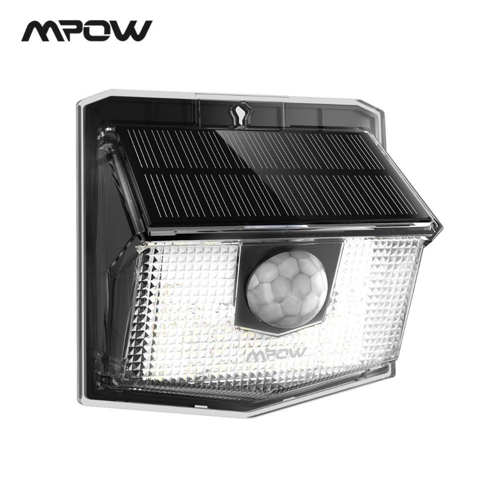 Mpow CD192 Solar-Powered Garden Outdoor Lights 30 LED Solar Lamps Motion Sensor 270 Degree Illumination Angle IP65 Waterproof