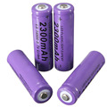 4pcs/lot Purple 3.7V 2300mAh 14500 AA Li-ion Rechargeable Battery For Flashlight light Torch
