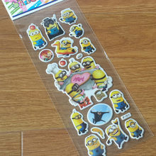 wall vinyl Cartoon Bubble Little Yellow the film Sticker Classic Toy Baby Bubble Sticker Kids Scrapbook Gift Reward Sticker(China)