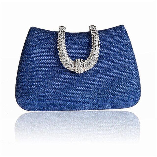 2016 New Vintage bolsa feminina Diamond Flower Crystal Evening Bag Clutch Upscale Styling Day Clutches Lady Wedding Purse WY04