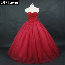 QQ Lover 2019 New Arrival Modern Many Colors Wedding Dress Custom Made Plus Size Dark Red