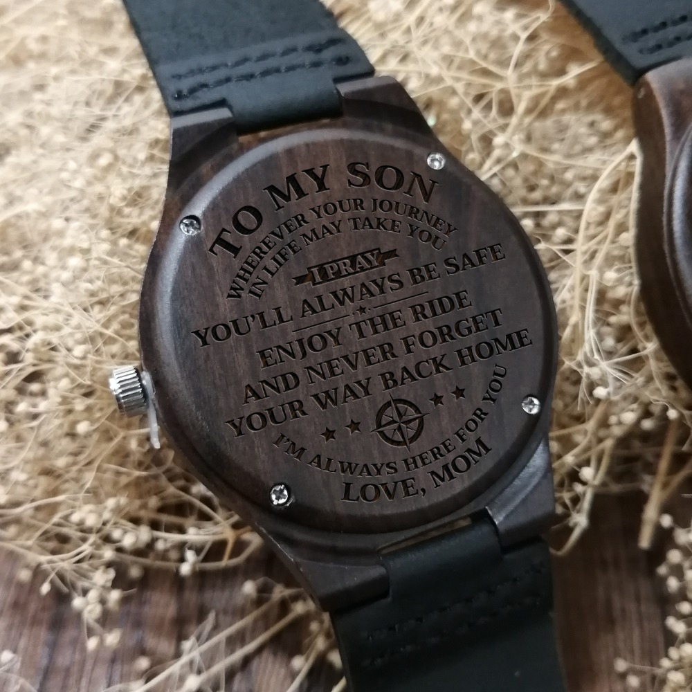 Aliexpress To My Son Enjoy Ride Engraved Wooden Wood Watch From Reliable Lover S Watches Suppliers On Redear Official