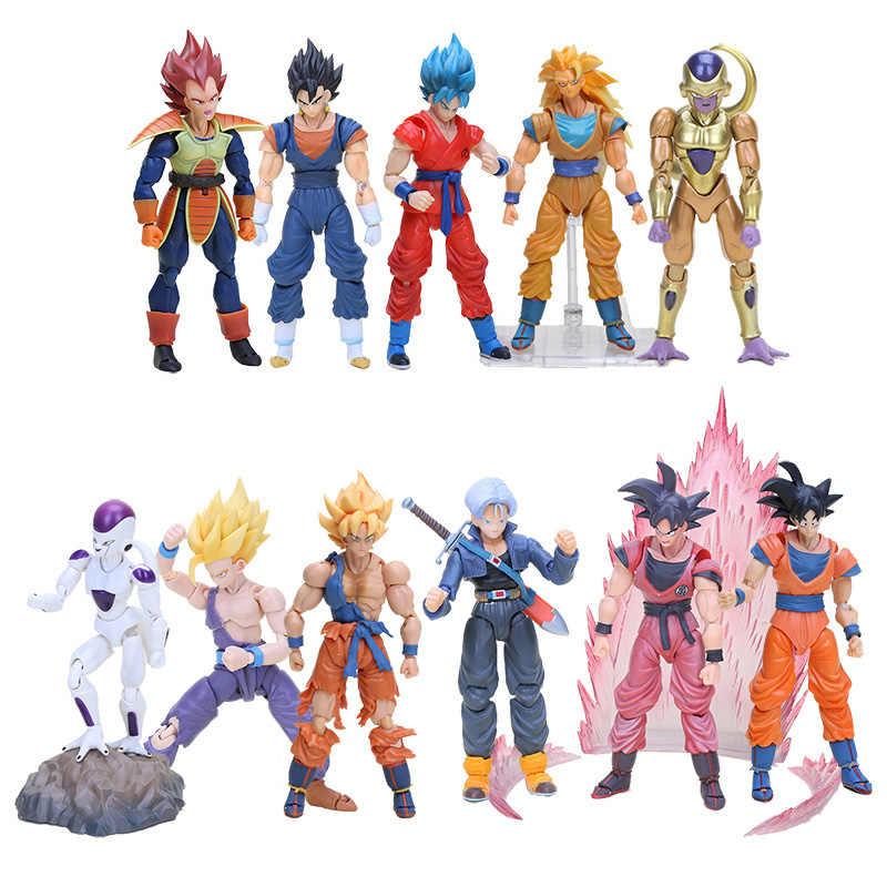 16 centímetros Anime S. h. fukkatsu F SHF Figuarts Dragon Ball Z Super Saiyan Deus SS vegeta trunks Goku Action Figure SHFiguarts Toy presente