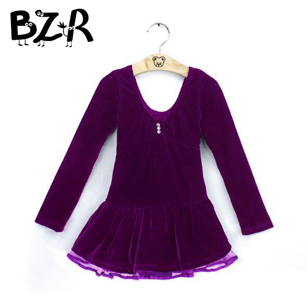 girls ballroom dance competition dresses dancing dresses for kids girl autumn winter warm velvet long sleeve dance costume