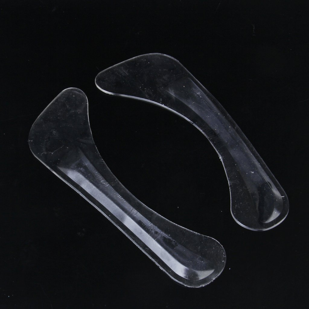 1 Pair of Adjustable Gel Silicone Correction Shoe Inserts Clear vsen wholesale hot style1 pair of adjustable gel silicone correction shoe inserts clear