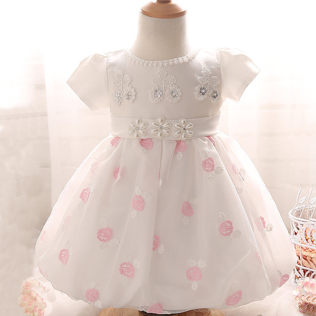 2016 Baby Girls Dress Newborn Girl Christening Gown 1 Year Birthday Dress Baby Girl Party Dress