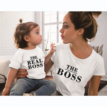 Family Matching Outfits Mother And Daughter Clothes Mommy Me Printed Cotton T-Shirt Mum