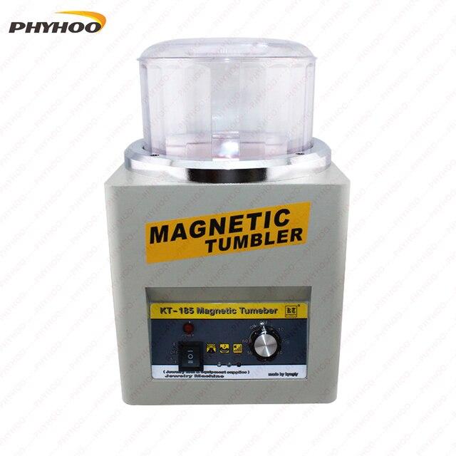 US $50 0   KT 185 Magnetic Tumbler Jewelry Polisher Finisher Machine  Equipment Polishing Machine platinum deburring -in Jewelry Tools &  Equipments