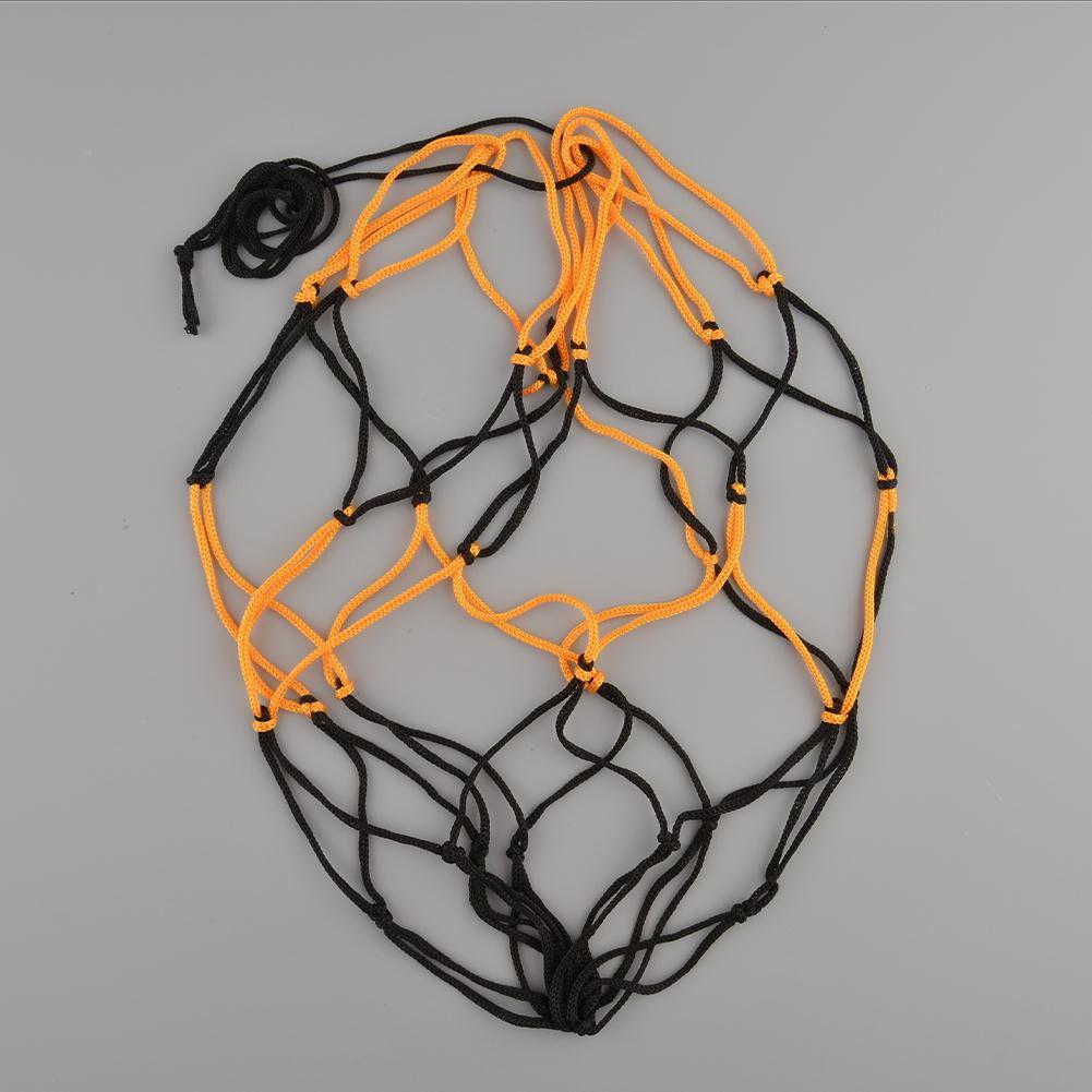 Nylon Net Bag Ball Mesh Volleyball Basketball Football Game Black&Yellow