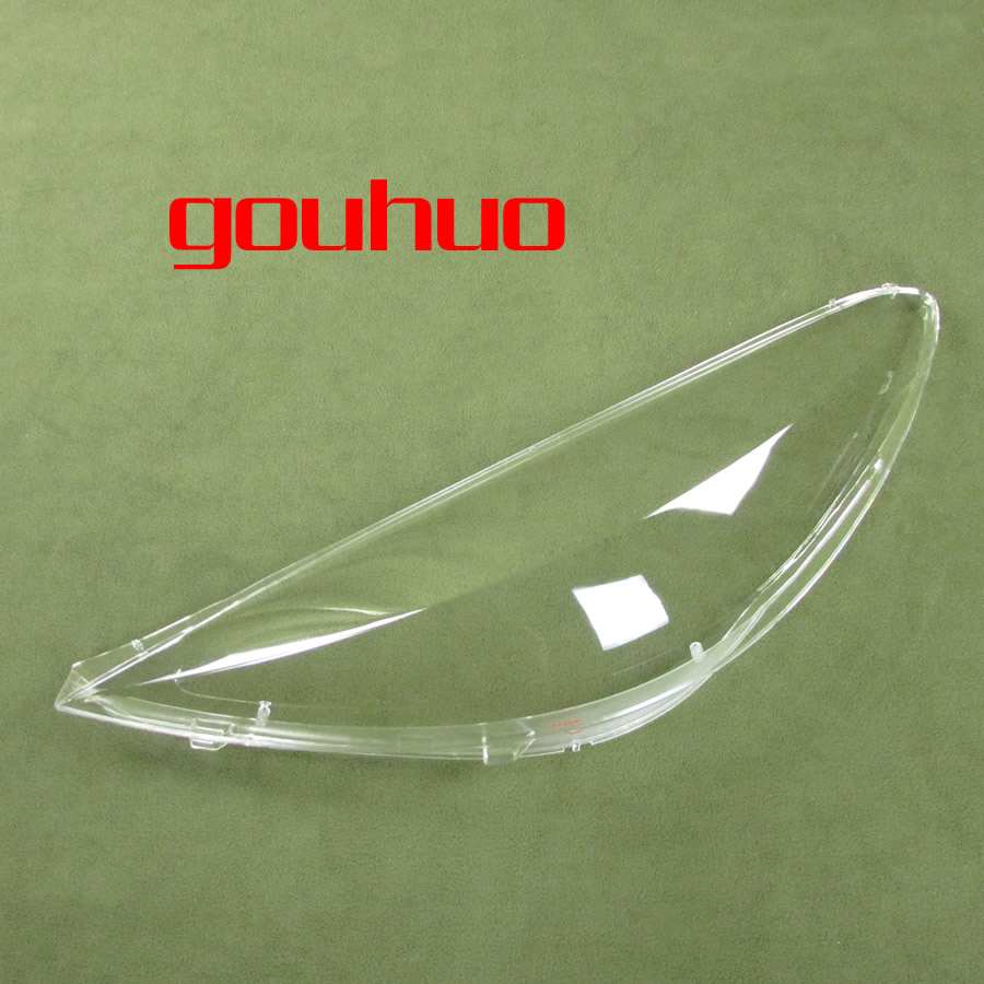 for Peugeot 207 09-13 transparent lampshade lamp shade front Headlight shell lampshade cover 2pcs