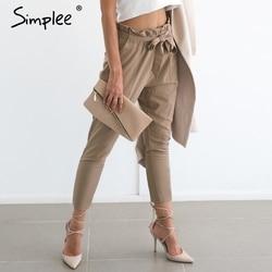 Simplee apparel ol chiffon high waist harem pants women stringyselvedge summer style casual pants female 2016.jpg 250x250