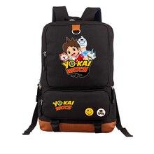Anime Yokai Watch YO-KAI Jibanyan Backpack Student School Shoulder Bag Men women's travel canvas Package Laptop Rucksack