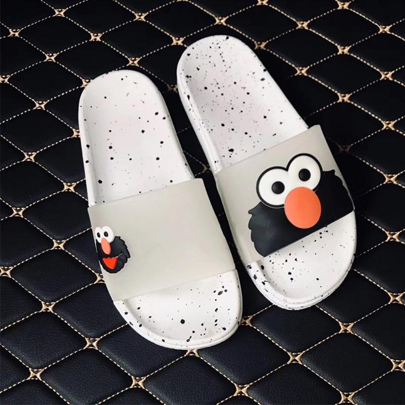 Summer Women Slippers Cartoon Cute Jelly Slides Slip On Casual Beach Shoes Soft PVC Flip Flops Ladies 2019 Fashion Footwear
