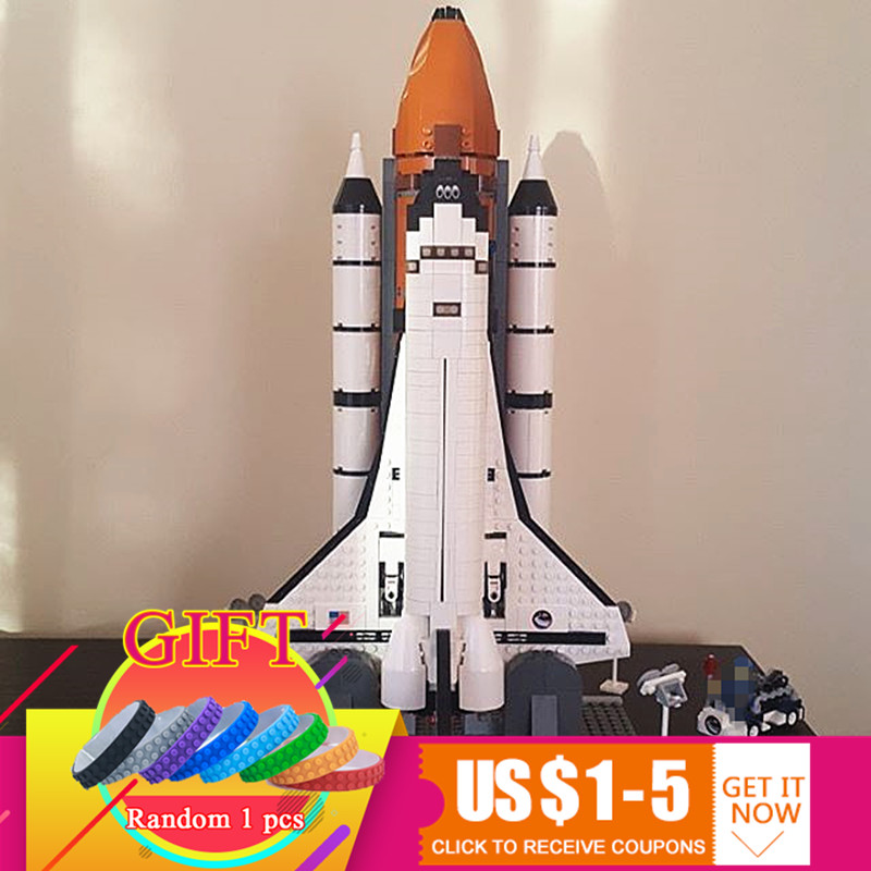 16014 1230Pcs Space Shuttle Expedition set Compatible with 10231 Model Building Blocks Toys gift toys in space