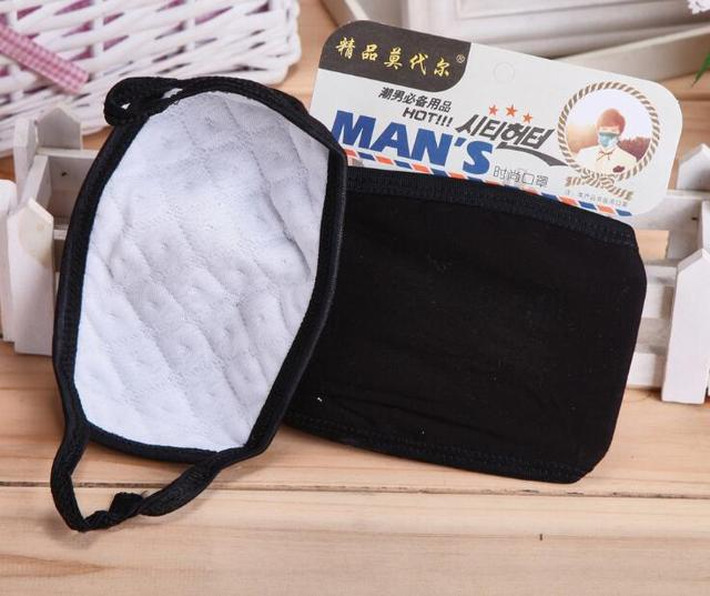 2pc Mouth Mask Cotton PM2.5 Anti Haze Black Dust Mask Nose Filter Windproof Face Muffle Bacteria Flu Fabric Cloth Respirator M40 2