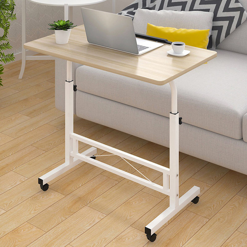 Adjustable Computer Desk Simple Mobile Lifting Laptop Table With Wheels Wood Laptop Table Beside Bed Sofa Стол