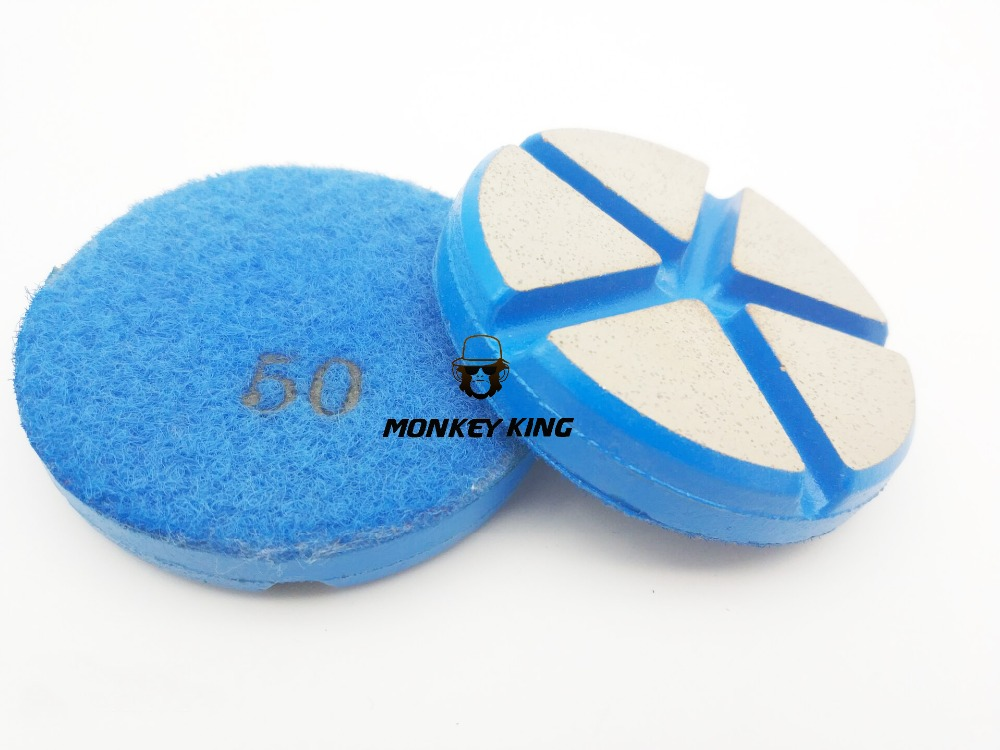 3 Inch 80mm Ceramic Resin Bond Diamond Grinding Disc Stone Floor Polishing Pads for Marble Granite Concrete (2)