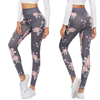 Sport Leggings High Waist Compression Pants Gym Clothes Sexy Running Floral Print Yoga Tights Women Fitness