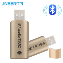 JINSERTA Wireless USB Bluetooth Transmitter Receiver Bluetooth Aux 3.5mm jack Audio Transmitter Sender Aux Adapter for TV PC