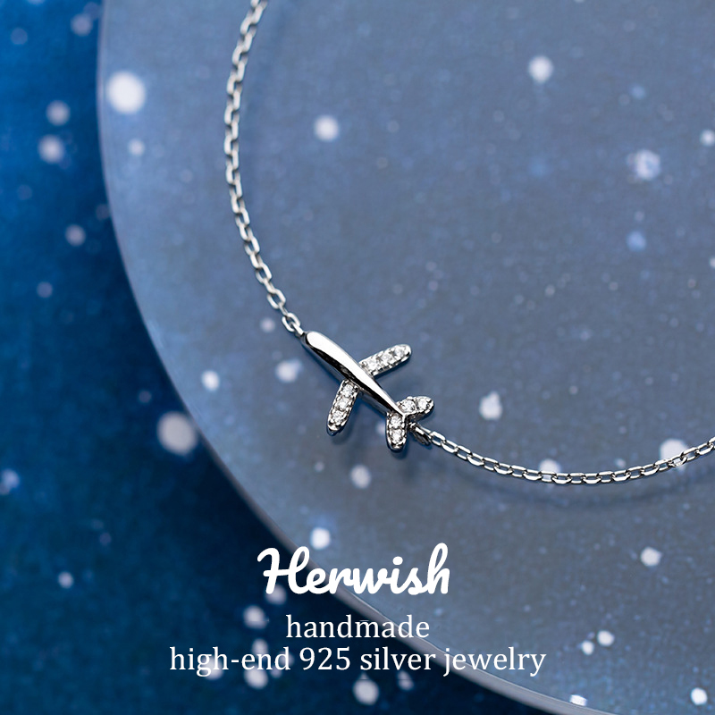 Herwish The Little Prince Plane Bracelets 925 Sterling Silver Gifts for Women Romantic Bling Zirconia Jewelry Charm BraceletHerwish The Little Prince Plane Bracelets 925 Sterling Silver Gifts for Women Romantic Bling Zirconia Jewelry Charm Bracelet