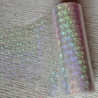 Holographic foil transparent foil broken glass hot stamping foil press on paper or plastic