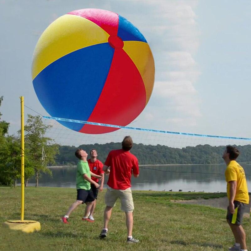 130 cm/150 cm ballons d'eau colorés géants pour enfants adultes charme Super grand gonflable plage balle piscine extérieure famille jouets