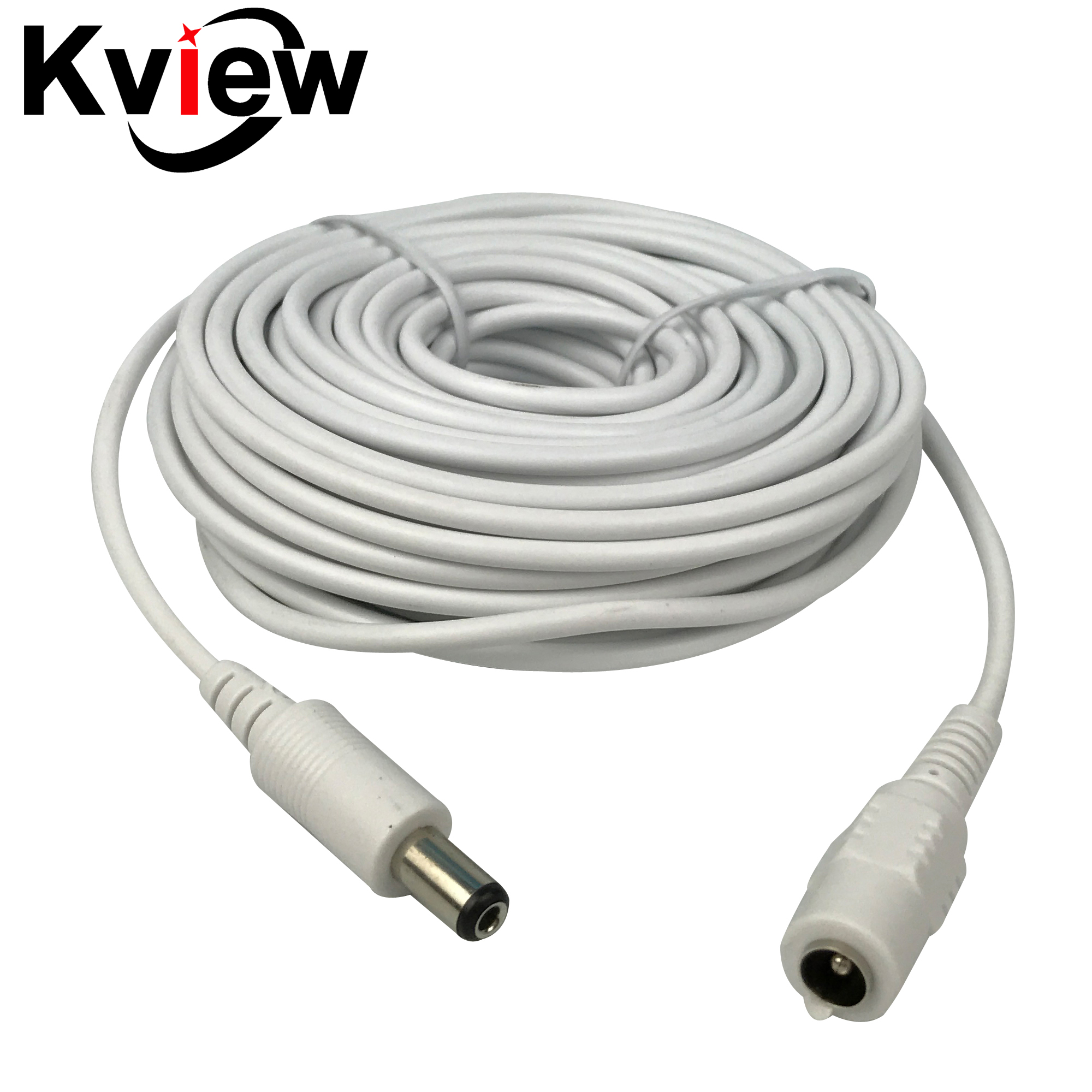 CCTV 10m(30ft) 2.1x5.5mm Dc 12v Power Extension Cable for Audio Security Cameras Ip Camera Dvr Standalone white color ypx 03 10m audio video power extension cable black 10m