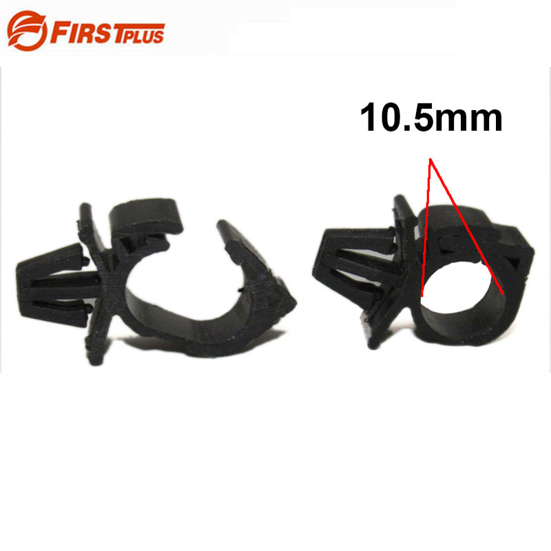 10x Car Wire Harness Fasteners For Fixed Clips Auto Route Clamp Cable Plastic