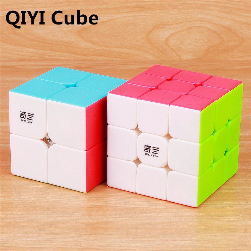 QIYI Professional 3x3x3 5.7CM Speed For Magic Cube Puzzle Cube 2x2x2 Cube Sticker For Children Adult Education Toy