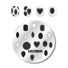 ZJOYS-003 NEW Style Fashion Design DIY 1PC Nail Image Stamping Plates 3D Round Art Templates Stencils Manicure Tools