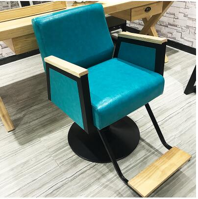 New high-end hairdressing Barber chair European style.Solid wood retro chair.