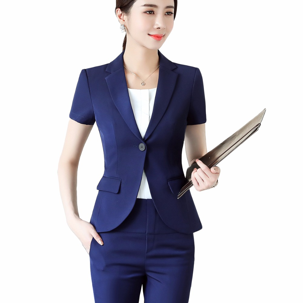 2018 officer uniforms designs women elegant pant suits largest size 4XL for work