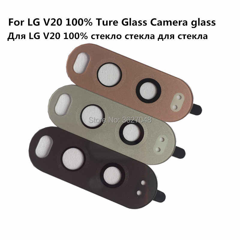 Для Lg V20 сзади Камера Стекло ремонт Пара Металл Камера Держатель рамы с клеем Камера объектив внешнее покрытие Стекло V20 f800L H990