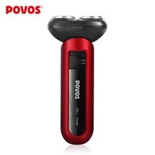 Мини перезаряжаемая электробритва для мужчин, автомобильная бритва, USB зарядка, удобно закрывающая бритва, острое лезвие POVOS PW918