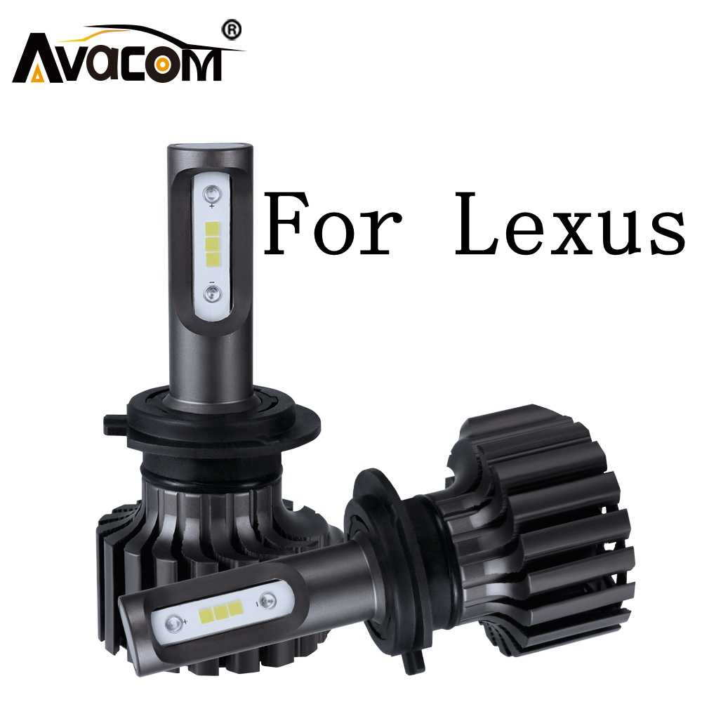 2 Pieces LED Car Headlight 12V 6500K 12000Lm 72W H7 HB3 HB4 Auto Fog Light For Lexus GS350/ES250/GS300/IS250/SC300/LS400/GX470