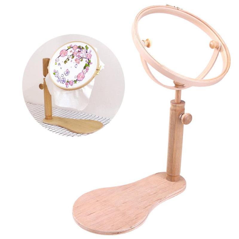 Embroidery Stand Hoop Wood Embroidery Cross Stitch Hoop Set Embroidery Hoop Ring Frame Adjustable Sewing Tools