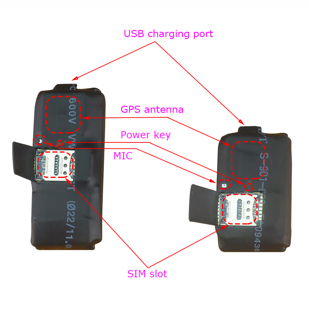 World smallest S3 S7 mini GPS tracker GPRS Wifi micro GPS