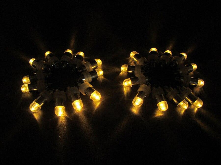 50 шт. Свадебная вечеринка поставки Водонепроницаемый погружные мини декоративный свет для Освещение до Эйфелевой башни ваза лампы для фона... ...