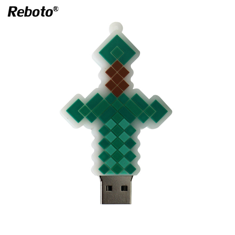 New USB Flash Drive Sword Cartoon Pendrive 8GB 16GB 32GB 64GB Cross Model USB2.0 Pen Driver U Disk Memeory Stick