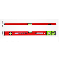 KAPRO Free Shipping High Precision 60CM Aluminum Alloy Level Measuring Instrument With Spirit Bubbles Level Gauge Ruler