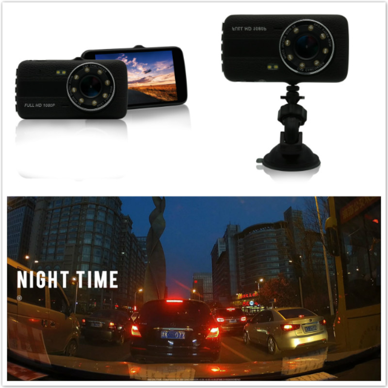 Car DVR Camera Full HD 1080P Blackbox G-sensor Dual Lens Video Recorder Parking Monitor Rear view Auto Camera Motion Detection full hd 1080p vehicle blackbox dvr with g sensor