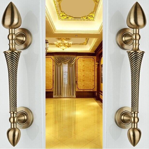 260mm high quality bronze wood door handles pulls,antique copper zinc alloy door pulls home ,KTV office hotel wood door handles